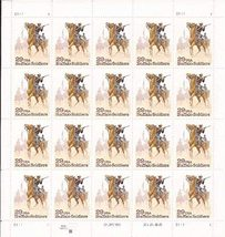 1994 Buffalo Soldiers Sheet of 20 29c US Postage Stamps Catalog Number 2818 MNH
