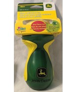 John Deere The First Years Yellow And Green Sipper Spill Proof 9oz Cup B... - $7.99