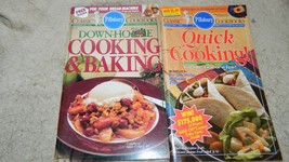 PILLSBURY DOWN-HOME COOKING & QUICK COOKING COOKBOOKS LOT OF 2 FREE USA ... - $8.59