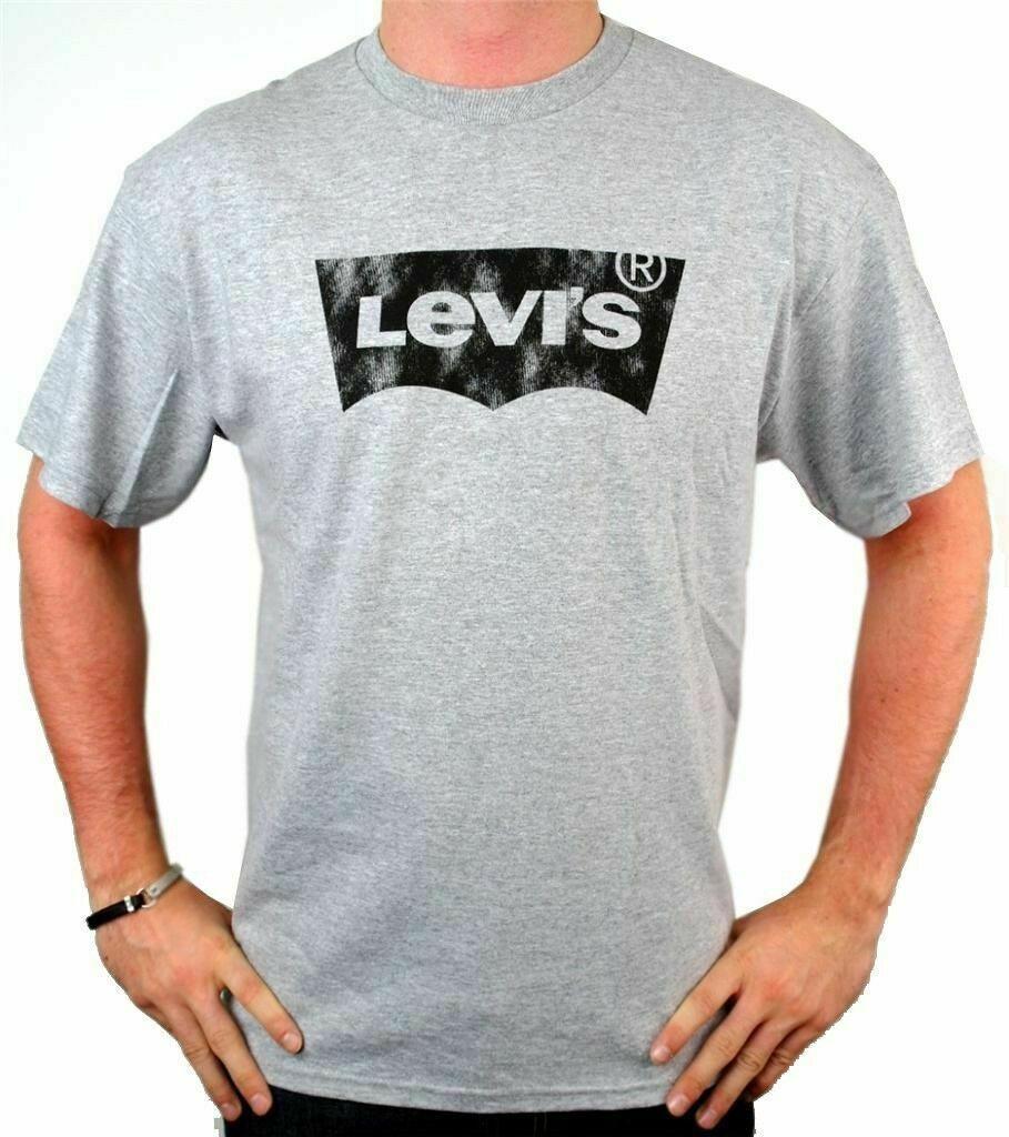 Levi's Men's Premium Classic Graphic Cotton T-Shirt Shirt Tee Gray