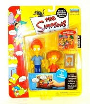 The Simpsons Series 9 Playmates Rod & Todd Flanders Action Figures Intel... - $11.73