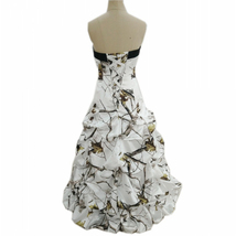 Vintage Off Shoulder Floral Print Wedding Dress Ruffle Women Bridal Part... - $105.00