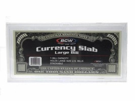 Deluxe Currency Display Slab For Large Bills Snap-lock by BCW - $7.97