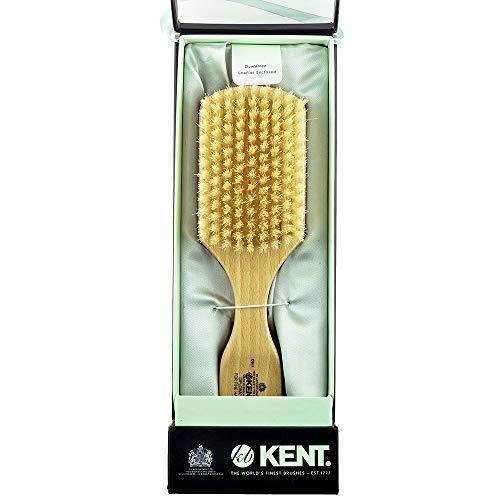 Kent OS11 Dual Timber Rectangular Club Hair Brush. Beautiful Satin and Beech Woo