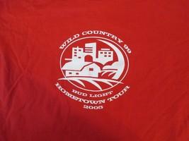 Wild Country 99 Bud Light Hometown tour 2005  T Shirt Size XL - $2.99