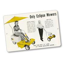 1960 Big E Line Eclipse Mowers Magazine Advertising Design Aluminum Sign - $15.79