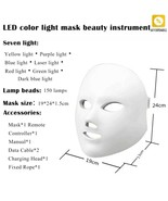 Led Facial Mask Face Beauty Therapy Whitening Tighten Skin Care Rejuvena... - $56.58
