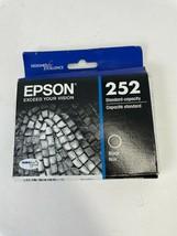 Genuine EPSON 252 (T252120) BLACK Ink Cartridge Standard SEALED Exp 05/2023 - $13.09