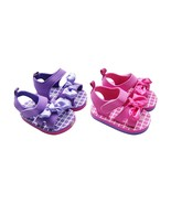 MABINI® Baby Girls Pink or Purple Summer Eva Sandals With Contrast Bow - $14.24