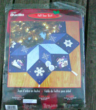 Bucilla Felt Applique Christmas Tree Skirt Kit Let It Snow 84599 Sandy Garbrandt - $130.00