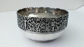 Beautiful Design Gorman sterling silver bowl, ornate and vintage 1890 Art Nouvea - $275.48