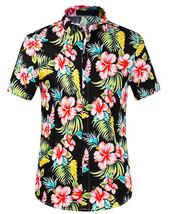 Men's Tropical Aloha Beach Party Hawaiian Luau Button Up Casual Dress Shirt 2XL