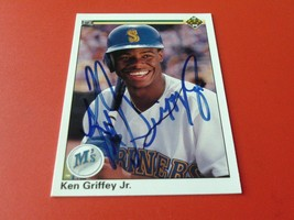 1990  KEN  GRIFFEY  JR  HAND SIGNED AUTOGRAPHED  2nd  YEAR #156  UPPER D... - $274.99