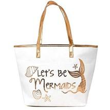 Me Plus Women Metallic Trimmed Large Beach Tote Bag Zipper Closure Inner... - $22.73