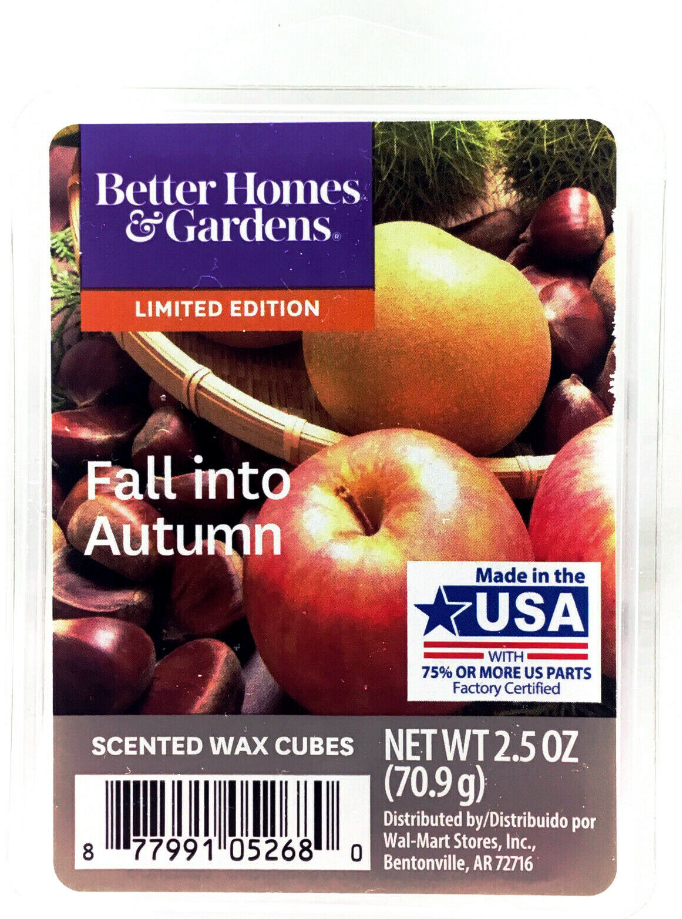 Better Homes & Gardens Fall Into Autumn Scented Wax Cubes Melts, 2.5oz. - $13.79