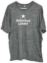 Tultex Men's Heineken Light Beer Dark Gray Grey Graphic Tee T-Shirt Size XL image 1