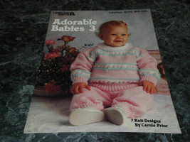 Adorable Babies 3 by Carole Prior Leisure Arts Leaflet 935 - $2.99