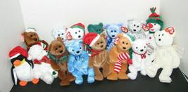 Ty Beanie Babies Set of 15 Christmas Plush Toys - $29.98