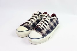 Vintage 90s New Converse All Star Low Mens 6 W 8 Wool Plaid Shoes Blue R... - $316.75