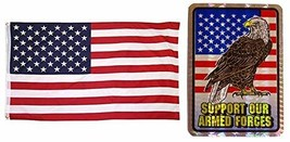 ALBATROS Set Support Our Armed Forces USA 3 ft x 5 ft 3x5 Flag and 3ftx4... - $36.12