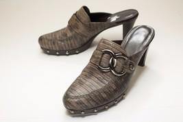 Stuart Weitzman 7.5 Brown Mules Alligator Texture - $84.00