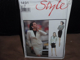 Style 1491 Misses Lined Jacket, Skirt, and Top Size 8  New - Uncut - $8.00