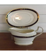 Mikasa Chatelaine Gravy Boat & Detachable Underplate Vintage Lan17 Chate... - $23.49