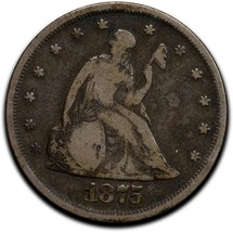 1875 Silver Twenty 20 Cent Coin Lot A 517