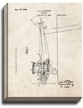 Airplane Patent Print Old Look on Canvas - $39.95+