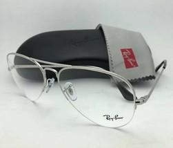 New RAY-BAN Eyeglasses RB 6589 2501 56-15 140 Aviator Semi Rimless Silver Frames