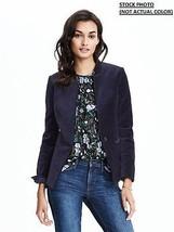 New Banana Republic Women One Button Velvet Blazer Black Size 0 - $75.13
