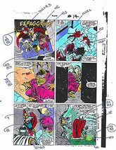 Original 1989 Thor 404 Marvel comic book color guide art page 14:Avenger... - $49.99