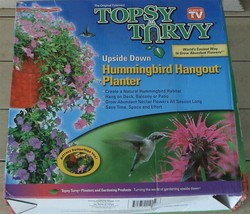 Topsy Turvy Upside Down Himmingbird Hangout Planter NEW IN PACKAGE - $14.84