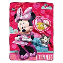 "Disney ""Minnie Mouse, Adventure Ready"" Silk Touch Throw Blanket, 46 by 6... - $38.95 CAD"