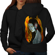 Girl Blue Fire Movie Art Sweatshirt Hoody  Women Hoodie Back - $21.99+