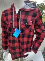 NWT Columbia Women's Long Sleeve Plaid Arkansas Razorbacks Shirt & Hood XL  - $39.77