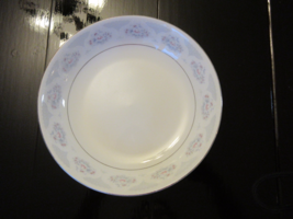 """T-China Classic China Pale Blue Flowers w/ Gray & White Urns 7 1/2"""" Bowl - $5.00"""