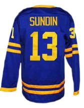 Custom Name # Mats Sundin Tre Kronor Sweden Hockey Jersey New Blue Any Size image 2