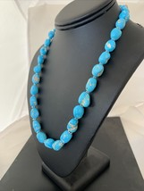 Oneofakind Sleeping Beauty Turquoise Beads Sterling Silver Pendant Neckl... - $8,909.11