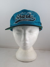 San Jose Sharks Hat (VTG) - Script hat by Starter - Adult Snapback  - $45.00