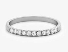 1/3CT Round Cut Natural Diamond Solid 14K White Gold Half Eternity Weddi... - €257,99 EUR