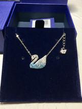 Swarovski ICONIC SWAN Gradient Blue Swan fashion Necklace pendant - $38.05