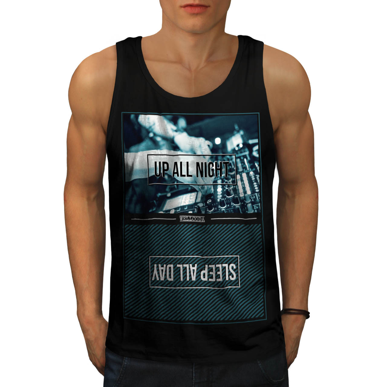 Party Life Tee Up All Night Men Tank Top - $12.99