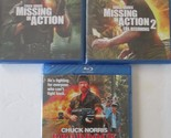 MISSING IN ACTION 1-2-3: Chuck Norris Vietnam Action Classics- NEW 3 BLU RAY