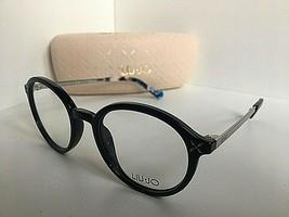 New LIU JO LJ 2638 LJ2638 001 Black 49mm Round Women's Eyeglasses Frame  - $99.99