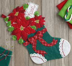 Bucilla 'Christmas Poinsettia' Felt  Christmas Stocking Applique Kit, 86705 - $23.29