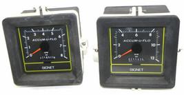 LOT OF 2 SIGNET SCIENTIFIC COMPANY P57540 ACCUM-U-FLOW INDUSTRIAL FLOW METERS