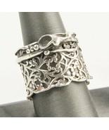 ESTATE Jewelry ISRAEL DESIGNER AMIR PORAN STERLING SILVER BRUTALIST RING - $95.00