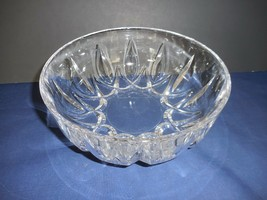 "Ambassador by Royal Crystal Rock Round Bowl 8"" Cut Vertical Swags - $19.79"