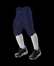 1 Youth 7 Pad Solo Series Integrated Football L Pants Navy/White Reversible - $22.50